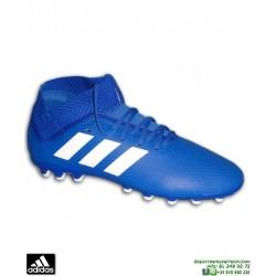 ADIDAS NEMEZIZ 18.3 Azul Bota Futbol Hierba Artificial BC0301personalizar