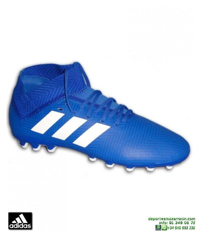 2491b5ef01a12 ADIDAS NEMEZIZ 18.3 Azul Bota Futbol Hierba Artificial BC0301personalizar