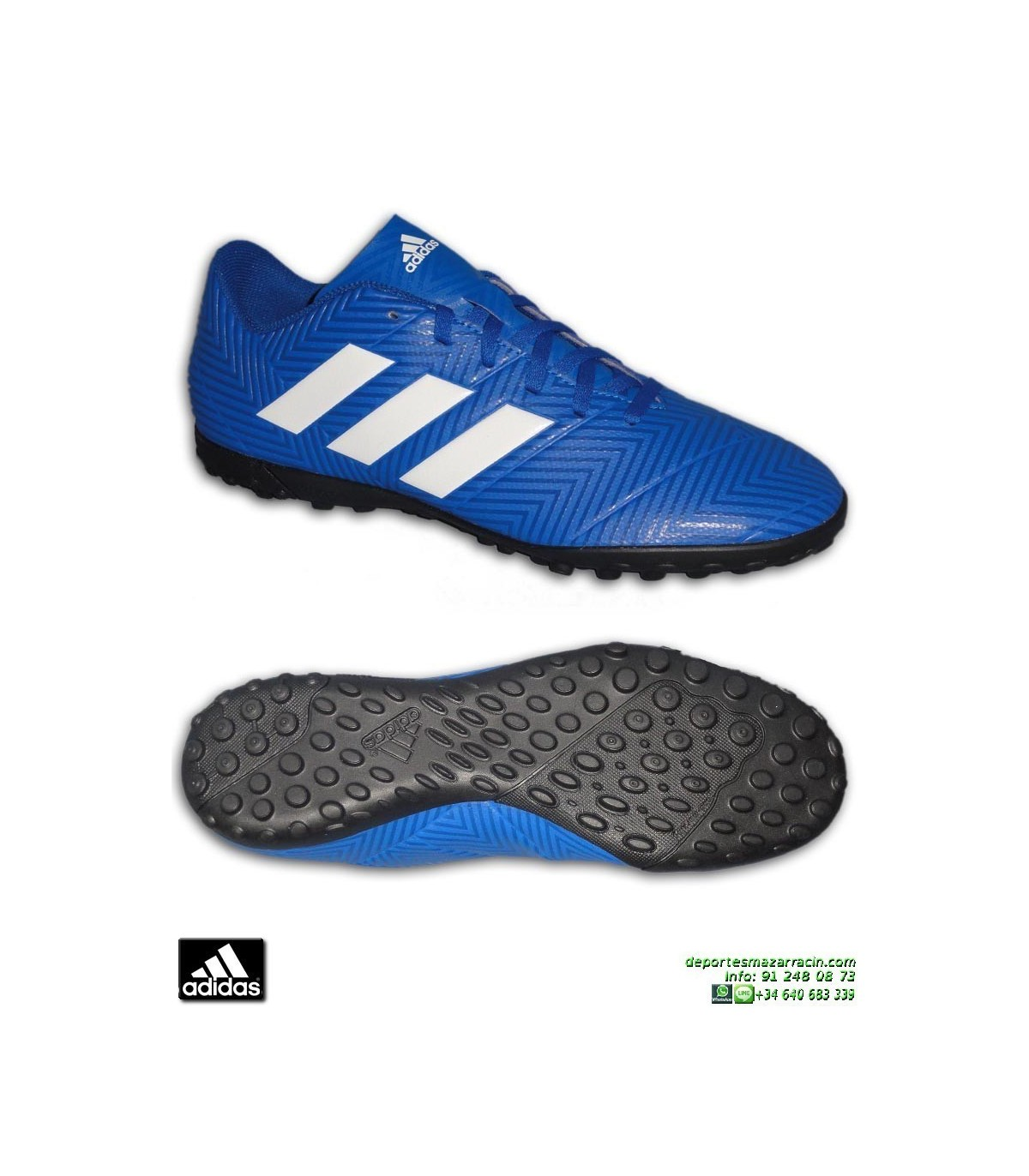 ba1b678d48c ADIDAS NEMEZIZ TANGO 18.4 Azul Zapatilla Futbol Turf Hierba Artificial  DB2264 hombre adulto personalizar · ADIDAS NEMEZIZ ...