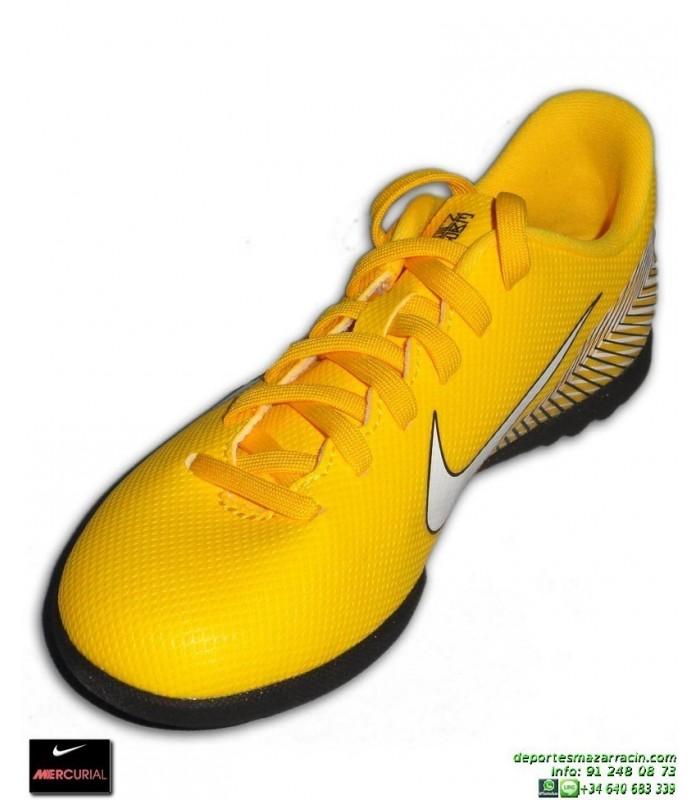 09f62da2e Nike MERCURIAL VAPOR 12 CLUB Niño NEYMAR Amarilla Zapatilla Futbol Turf