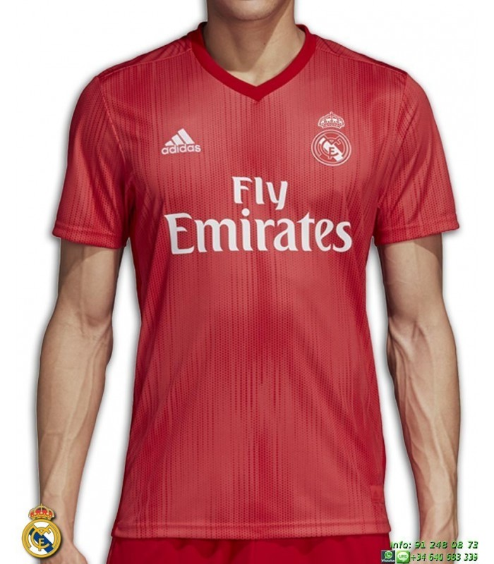 Camiseta REAL MADRID 2018 2019 Roja tercera Equipacion