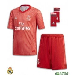 Equipacion REAL MADRID 2018-2019 Rojo tercera Camiseta niños ADIDAS Oficial champions DP5444 futbol