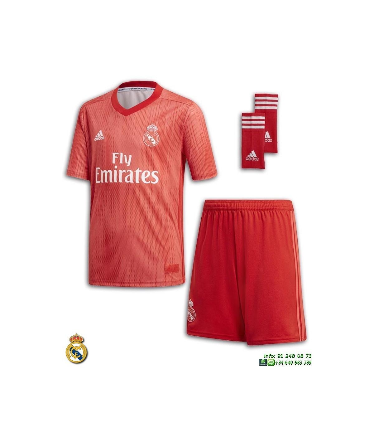 4948d142b ... Equipacion REAL MADRID 2018-2019 Rojo 3ª Camiseta Junior ADIDAS Oficial  · Equipacion ...