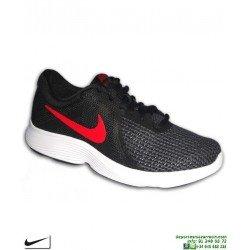44faf5f36 Zapatilla Deporte Nike REVOLUTION 4 Negro-Rojo Hombre AJ3490-061 running ...