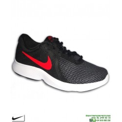 Zapatilla Deporte Nike REVOLUTION 4 Negro-Rojo Hombre AJ3490-061 running