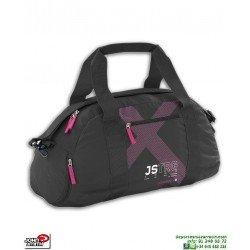 Bolsa Gimnasio Mujer John Smith B18225-005 Negro-Rosa deporte