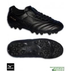 Mizuno MRL CLUB 24 NEGRO Completa Bota Futbol Hierba Artificial clasica piel tacos P1GA150709