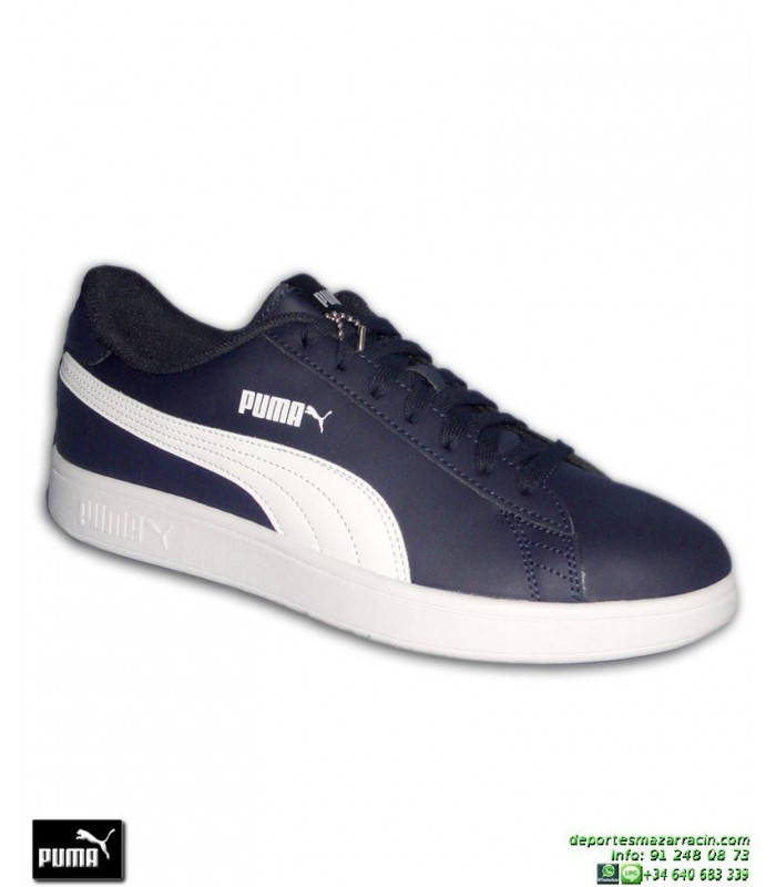 Zapatilla Moda Calle Puma SMASH Azul Marino Blanco