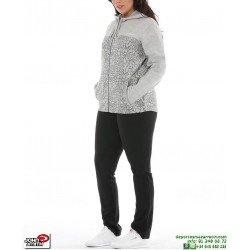 Chandal Señora Algodon John Smith LARPA Gris Medio mujer tracksuit femenino deporte conjunto chaqueta pantalon