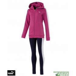 Chandal Chica PUMA SWEAT SUIT WITH LEGGINGS Rosa algodon 851847-26 Girlcolegio deporte