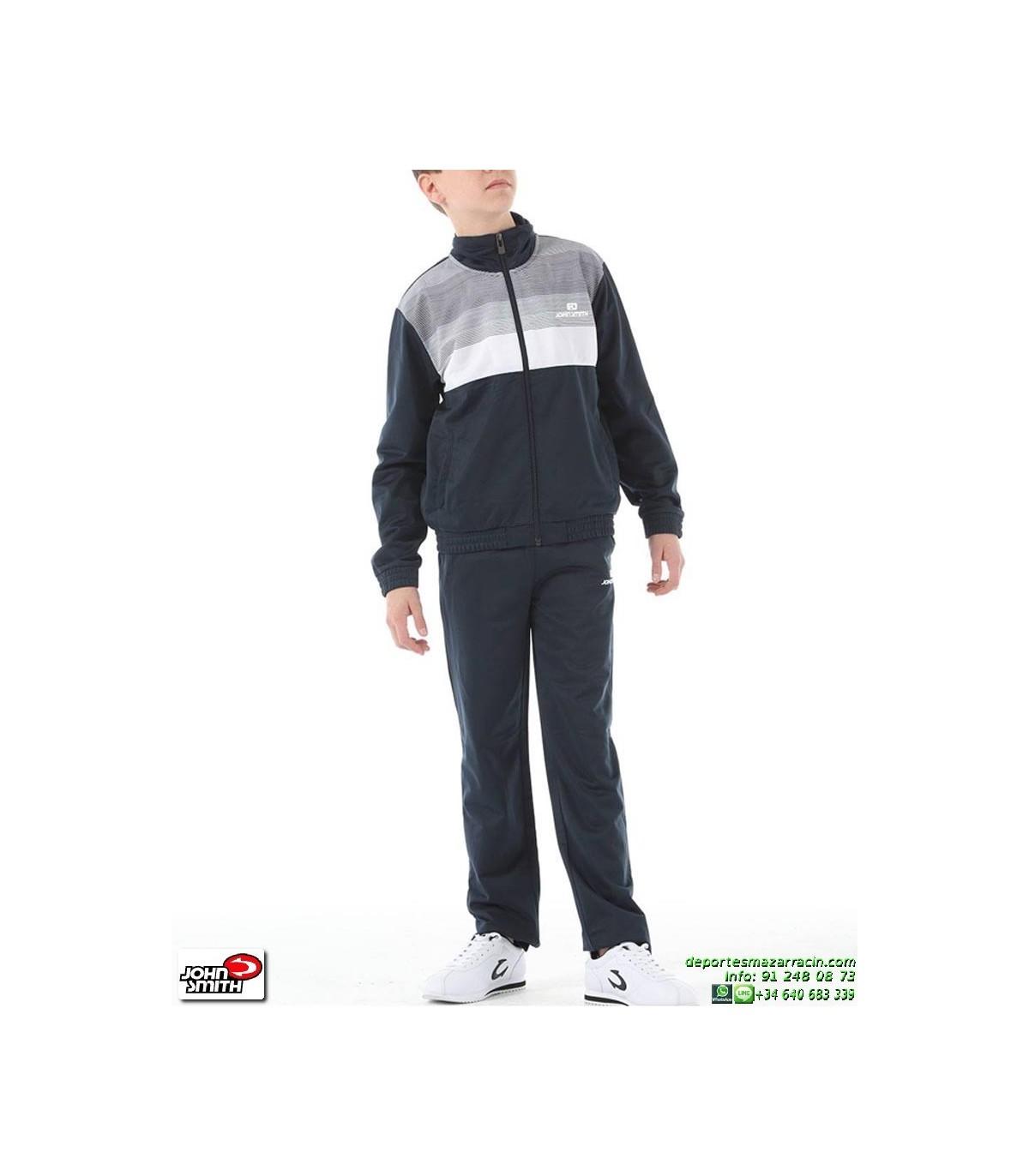 503f2a6ce1 Chandal Hombre John Smith CAMPULA Blanco-Marino Poliester acetato tracksuit  deporte conjunto chaqueta pantalon