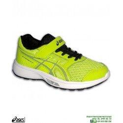 Zapatilla Running para Niños ASICS STORMER PS Velcro Amarillo C812N-300 deporte