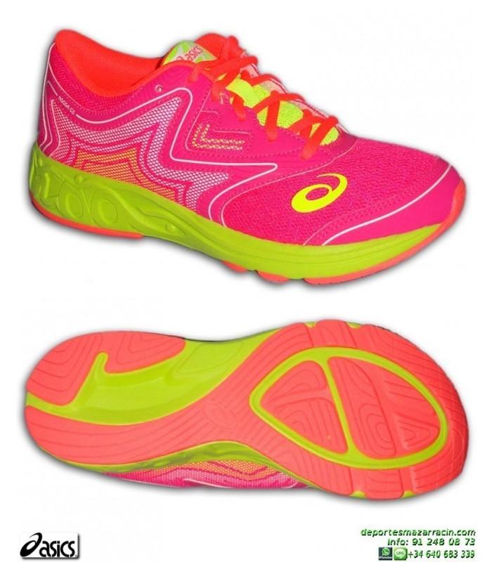 zapatillas asics running mujer rosas