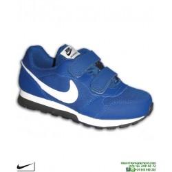 Zapatilla Nike Para Niños MD RUNNER 2 PSV Velcro Azul 807317-411 Deportiva clasica