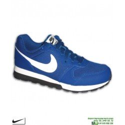 Zapatilla Nike MD RUNNER 2 Junior Azul 807316-411 Deportiva clasica chico