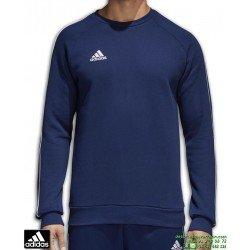Sudadera ADIDAS CORE18 SW TOP azul marino algodon CV3959 hombre cuello caja corte clasico deporte