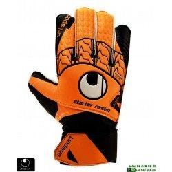 Guante de Portero UHLSPORT STARTER RESIST Naranja 101107901 palma latex personalizar