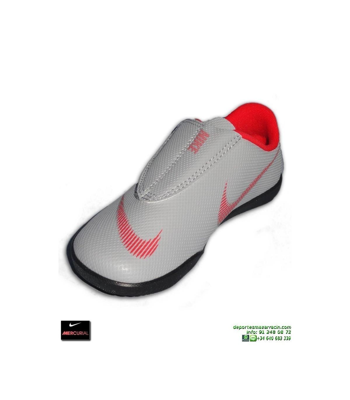 dc0b44c46 Nike MERCURIAL VAPOR 12 CLUB Niño Gris Zapatilla Futbol Sala Velcro  AH7356-060 bota junior · Nike MERCURIAL VAPOR 12 CLUB ...