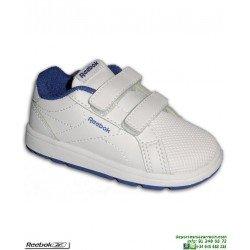 Zapatilla Clasica infantil Niño REEBOK ROYAL COMPLETE Blanco-azul CN4825 gimnasia calzado uniforme