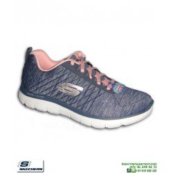 Deportiva Mujer Skechers Flex Appeal 2.0 azul marino 12753/NVY plantilla Memory Foam