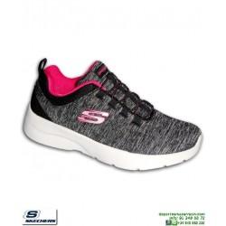 Deportiva Mujer Skechers DYNAMIGHT 2.0 IN A FLASH Negro 12965/BKHP pantilla Memory Foam