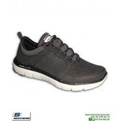 Zapatilla Skechers FLEX ADVANTAGE 2.0 DALI Negro para Hombre 52124/BLK plantilla Memory Foam