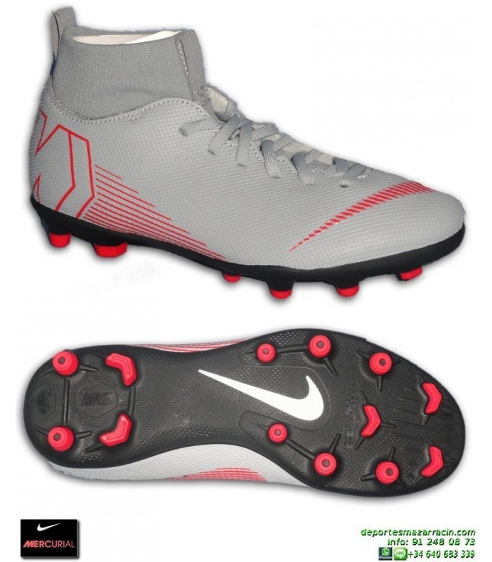 new products fb9cf 83128 Nike MERCURIAL SUPERFLY 6 CLUB niño Gris Bota Futbol Calceti