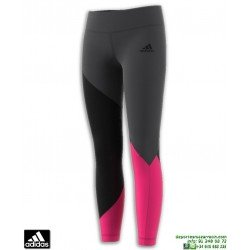 Malla Pantalon Chica ADIDAS  YG GU LIN TIGHT Negro-Blanco DN8428