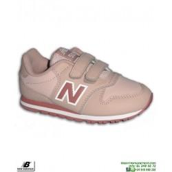 Zapatilla Niña NEW BALANCE 500 Piel Rosa Velcro moda calle KV500LPY