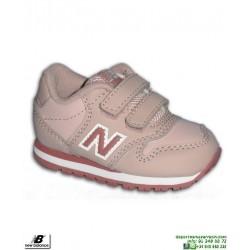 Zapatilla NEW BALANCE 500 Infantil Niña Piel Rosa Velcro moda calle KV500LPI