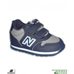 Zapatilla NEW BALANCE 500 Infantil Niño Piel Azul Marino Velcro moda calle KV500VBI
