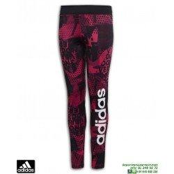 Malla Pantalon Chica ADIDAS  YG GU LIN TIGHT Negro Estampado Rosa DJ1111