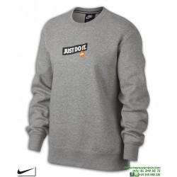 Sudadera Mujer NIKE CREW FT JUST DO IT Gris Jaspeado AQ0243-063