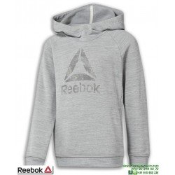 Sudadera Chico REEBOK MARBEL OVER THE HEAD Hoody Capucha Gris jaspeado DJ3075