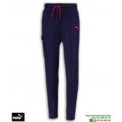 Pantalón Chandal Algodon PUMA Style Pants B Chico Azul Marino junior 851895-06 puño pitillo