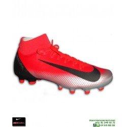 Nike MERCURIAL SUPERFLY 6 ACADEMY cr7 Gris Bota Futbol Calcetin FG/MG rojo cristiano ronaldo AJ3541-600