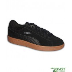 Zapatilla Moda Calle Puma SMASH Azul Piel Negra Suela Caramelo sneakers hombre zapatilla clasica sport 365989-15