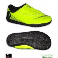 Nike MERCURIAL VAPOR 12 CLUB Niño Amarillo Zapatilla Futbol Sala Velcro