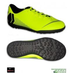 Nike MERCURIAL VAPOR 12 CLUB Niño AMARILLO fluor Zapatilla Futbol Turf AH7355-701 bota junior