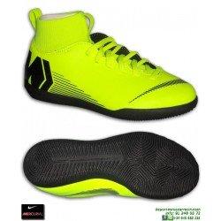 Nike MERCURIAL SUPERFLY 6 CLUB Niño AMARILLA Zapatilla Futbol Sala Calcetin tobillera AH7346-701 bota