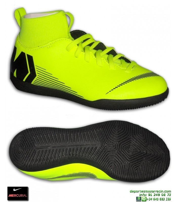 Nike MERCURIAL SUPERFLY 6 CLUB Niño Amarillo Zapatilla Futbol Sala