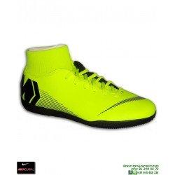 Nike MERCURIAL SUPERFLY 6 CLUB AMARILLA Zapatilla Futbol Sala Calcetin tobillera AH7371-701 bota adulto