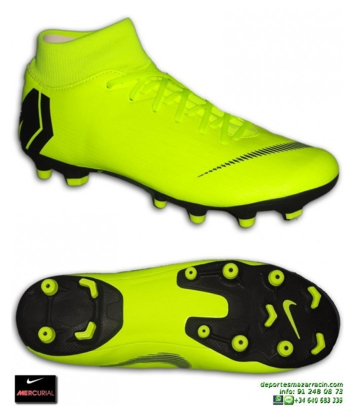 Nike MERCURIAL SUPERFLY 6 ACADEMY amarilla Bota Futbol Calcetin FGMG