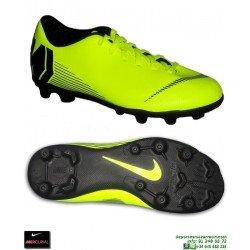 Nike MERCURIAL VAPOR 12 CLUB Niño Amarilla Bota Futbol Tacos 1309215dbcc32
