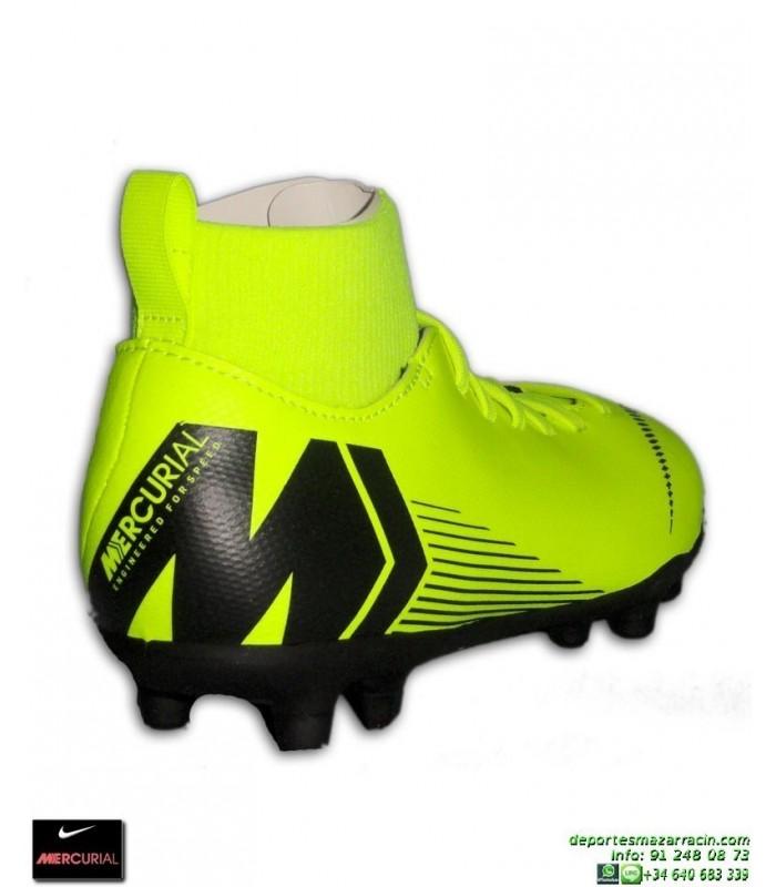 eff947c92 Nike MERCURIAL SUPERFLY 6 CLUB Niño Amarilla Bota Futbol Tobillera Tacos  AH7339-701 junior