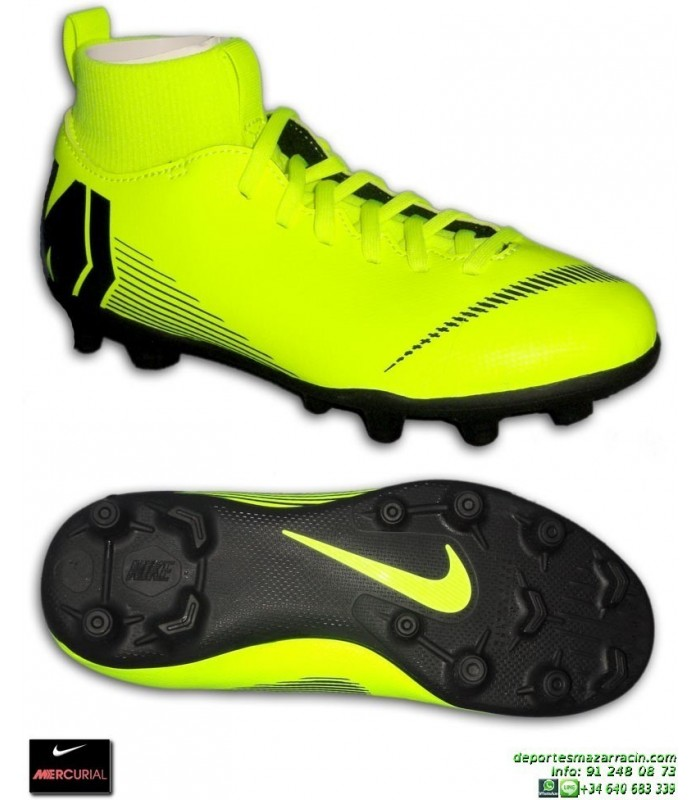 best loved 484fd b049f Nike MERCURIAL SUPERFLY 6 CLUB Niño Amarilla Bota Futbol Tobillera Tacos  AH7339-701 junior