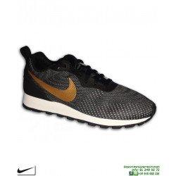 Zapatilla Mujer Nike MD RUNNER 2 Negro-Dorado