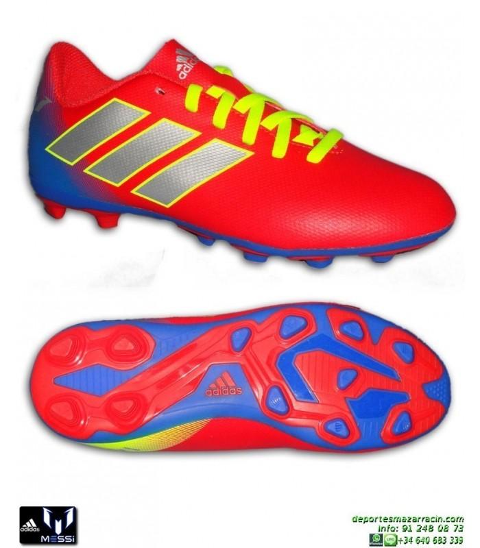 ADIDAS NEMEZIZ MESSI Bota Futbol Niños 18.4 Rojo-Azul tacos Hierba  artificial CM8630 personalizar 55a3fb1564011