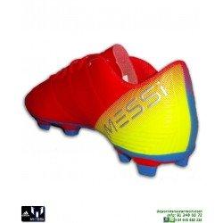ADIDAS NEMEZIZ MESSI Bota Futbol Rojo-Azul 18.4 tacos Hierba artificial D97273 hombre