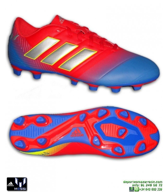 ADIDAS NEMEZIZ MESSI Bota Futbol Rojo-Azul 18.4 tacos Hierba artificial  D97273 hombre cc20cbb3c22ce